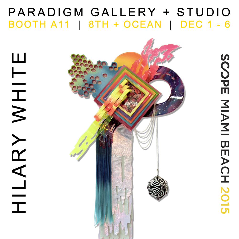 Hilary White Art showing at the SCOPE art exhibition in Miami beach for Art Basel