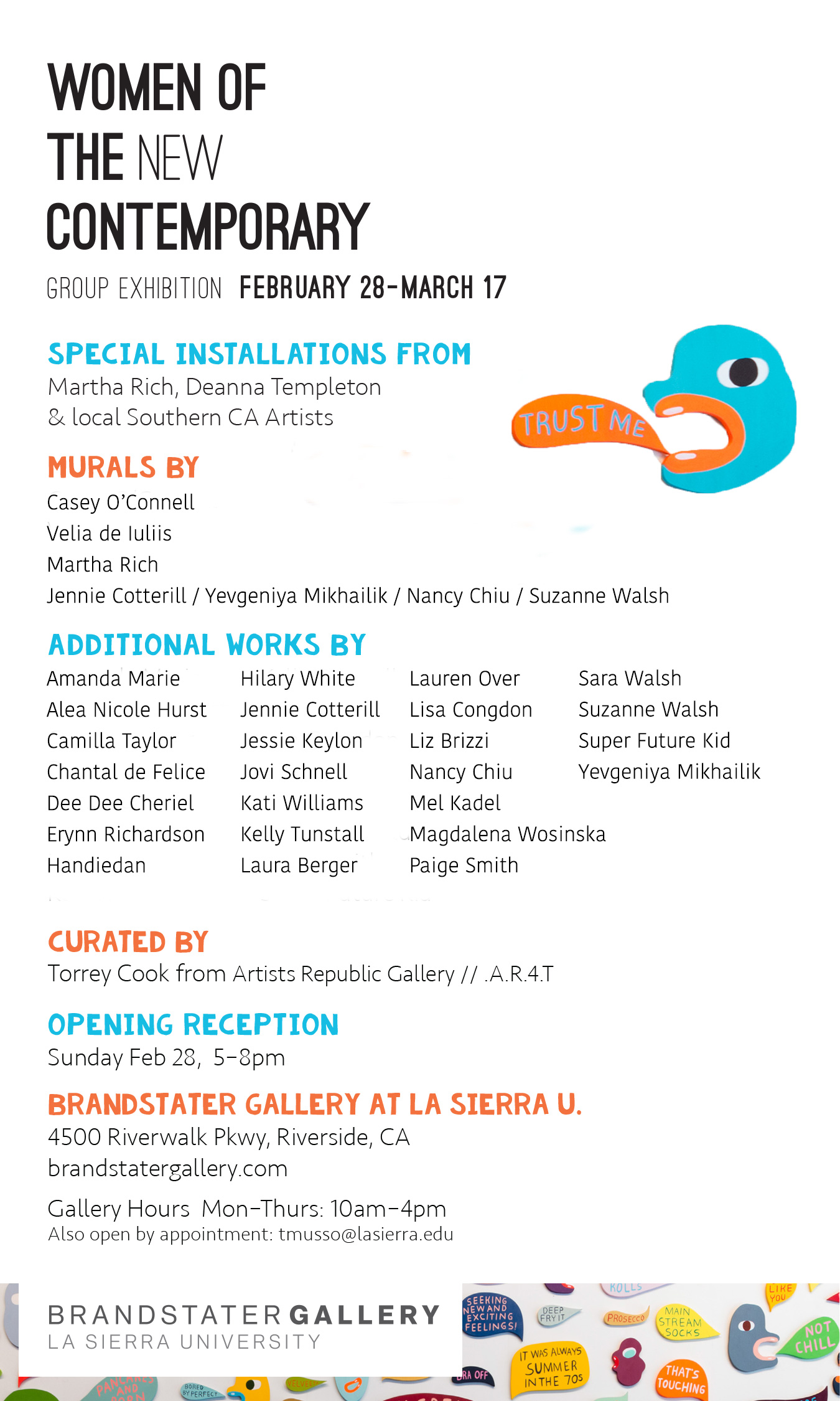 Hilary White Art in the exhibition Women of the new contemporary at La Sierra University in Brandstater Gallery