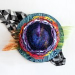 Hilary White three dimensional sculpture Across for the art series SEER using wood resin and plastic