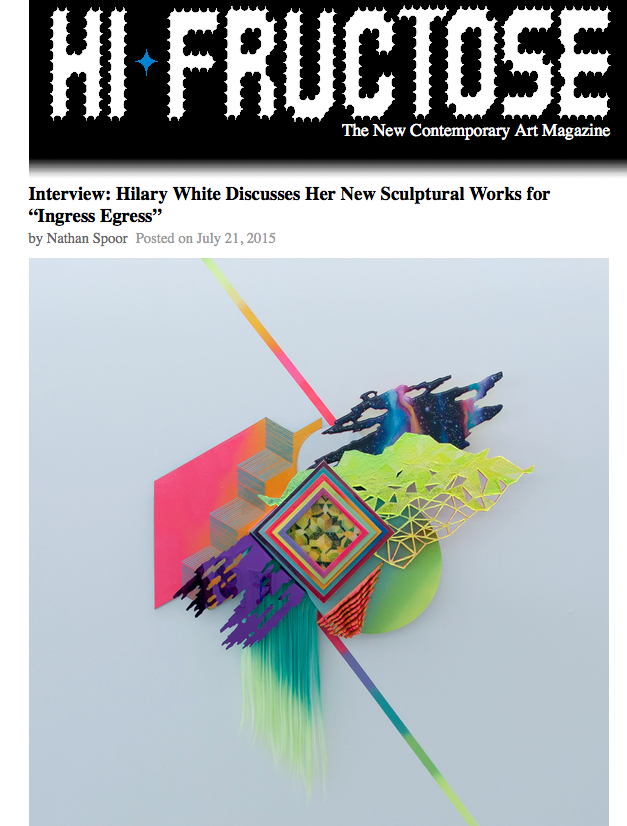 Hilary White interview for the art exhibition Ingress/Egress at Paradigm Gallery