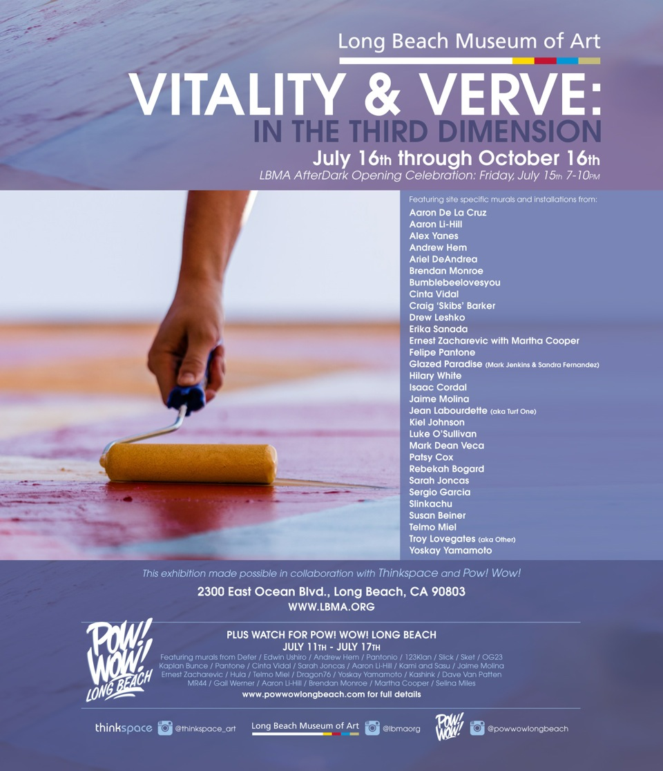Vitality and Verve at The Long Beach Museum of Art in Collaboration with Thinkspace Gallery
