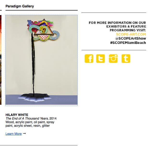 Hillary White Art, Hilary White Art, Miami Art Basel, Scope Fair, Miami Beach 2014, Seer, Hilary White Seer