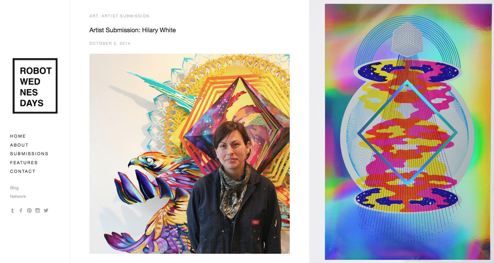 Robot Wed, Robot Wednesdays, Art and Design Blog, Hillary White Art, Hilary White Art, Australia Art, Artist Article, Hilary White Article, Seer, Seer Series