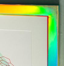 Hilary White Art custom built frame for silk screen