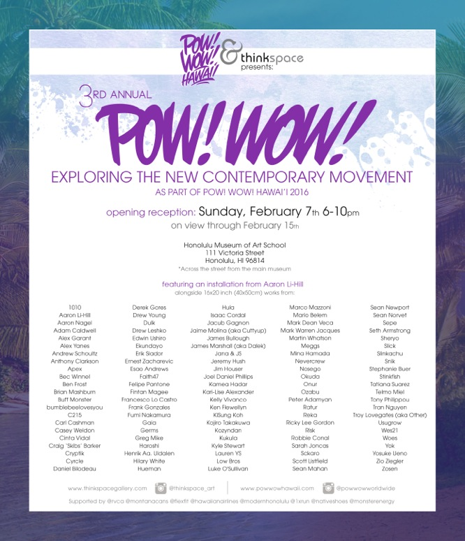 Thinkspace Gallery 3rd annual Pow Wow exhibition