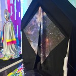 Hilary White Art REST Installation, a holographic, neon, experience of faith, community and ritual